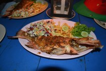 The best culinary surprise in Sri Lanka: Red Snapper grilled fish at Mirissa beach in Sri Lanka. Tasted like a fish grilled by yours truly. :)