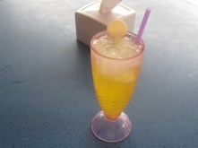 No beer in Brunei, which is a dry state. :( Ok, then fresh orange juice with lots of ice. :)