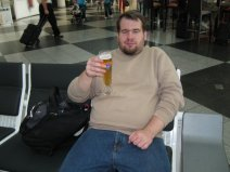 You can't start a holiday trip without a german beer. ;) Photo taken at the Munich airport.