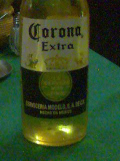 Corona. The cheapest Corona in Ciudad de Mexico was 13 pesos ($1.3 or less than 1€). Other famous Mexican beers are: Sol, Indio, Bohemia, Victoria, Dos Equis and Pacifico. Photo taken in Ciudad de Mexico.