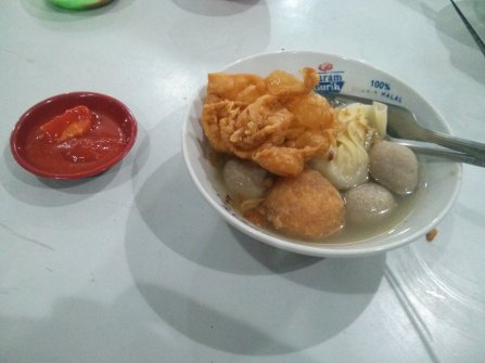 Another version of bakso - Bakso Campur.