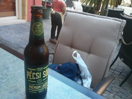 A beer from Pecs.