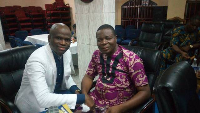 Pastor Bisi Adewale with National President of Men fellowship Church Of God Mission Int'l
