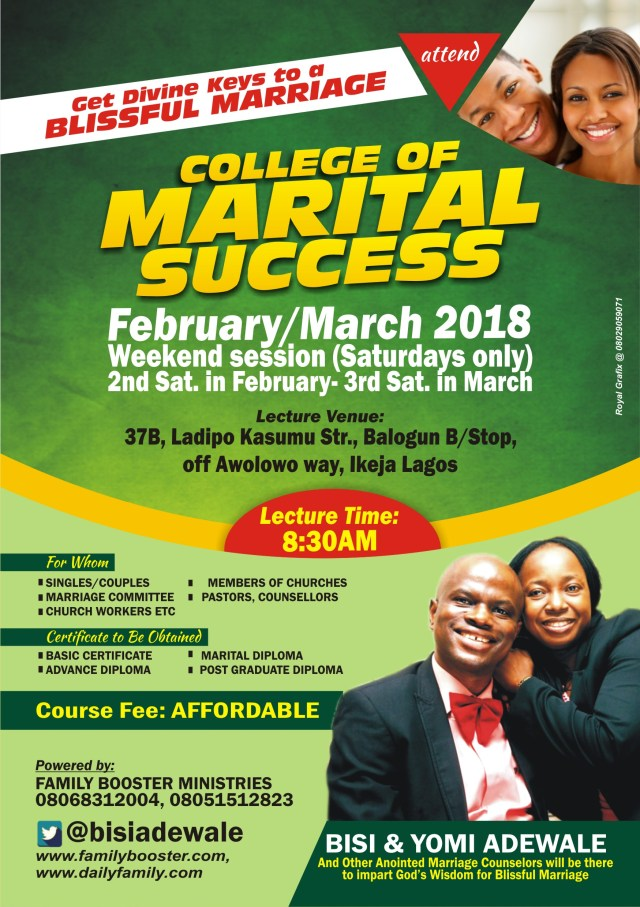 ATTEND COLLEGE OF MARITAL SUCCESS