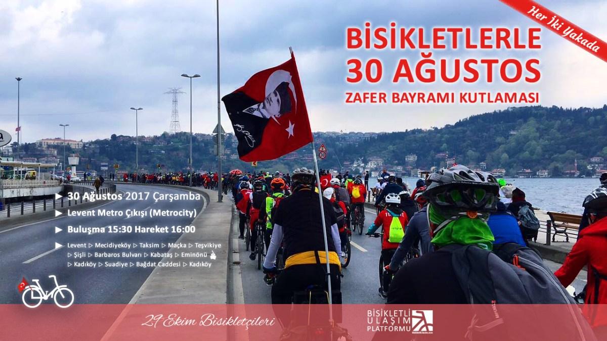 Her İki Yakada Bisikletlerle 30 Ağustos Zafer Bayramı Kutlaması - 2017