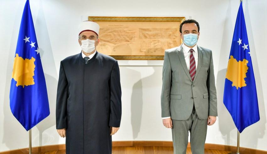 Kryeministri Kurti priti në takim Myftiun Tërnava