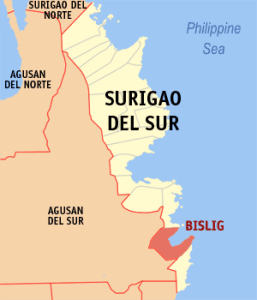 Location of Bislig City