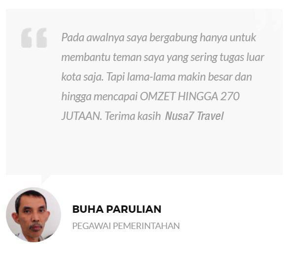 testimoni nusa7 travel