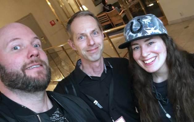 Jag tillsammans med bloggveteranen Hans Kullin och Add Gender-grundaren Jenny Claesson.
