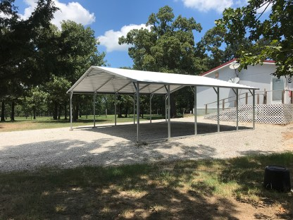 24x26 Boxed Eave Carport with 7' legs.