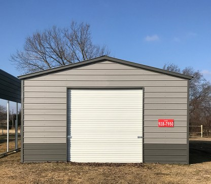22' x 30' All Metal Vertical Roof Shop