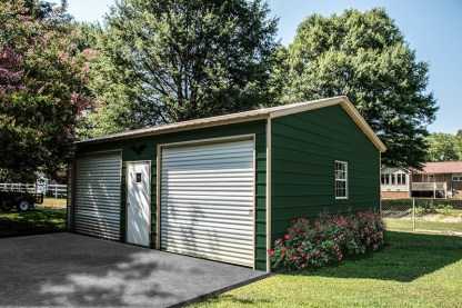 20′ x 25′ Metal Garage with 9′ side walls
