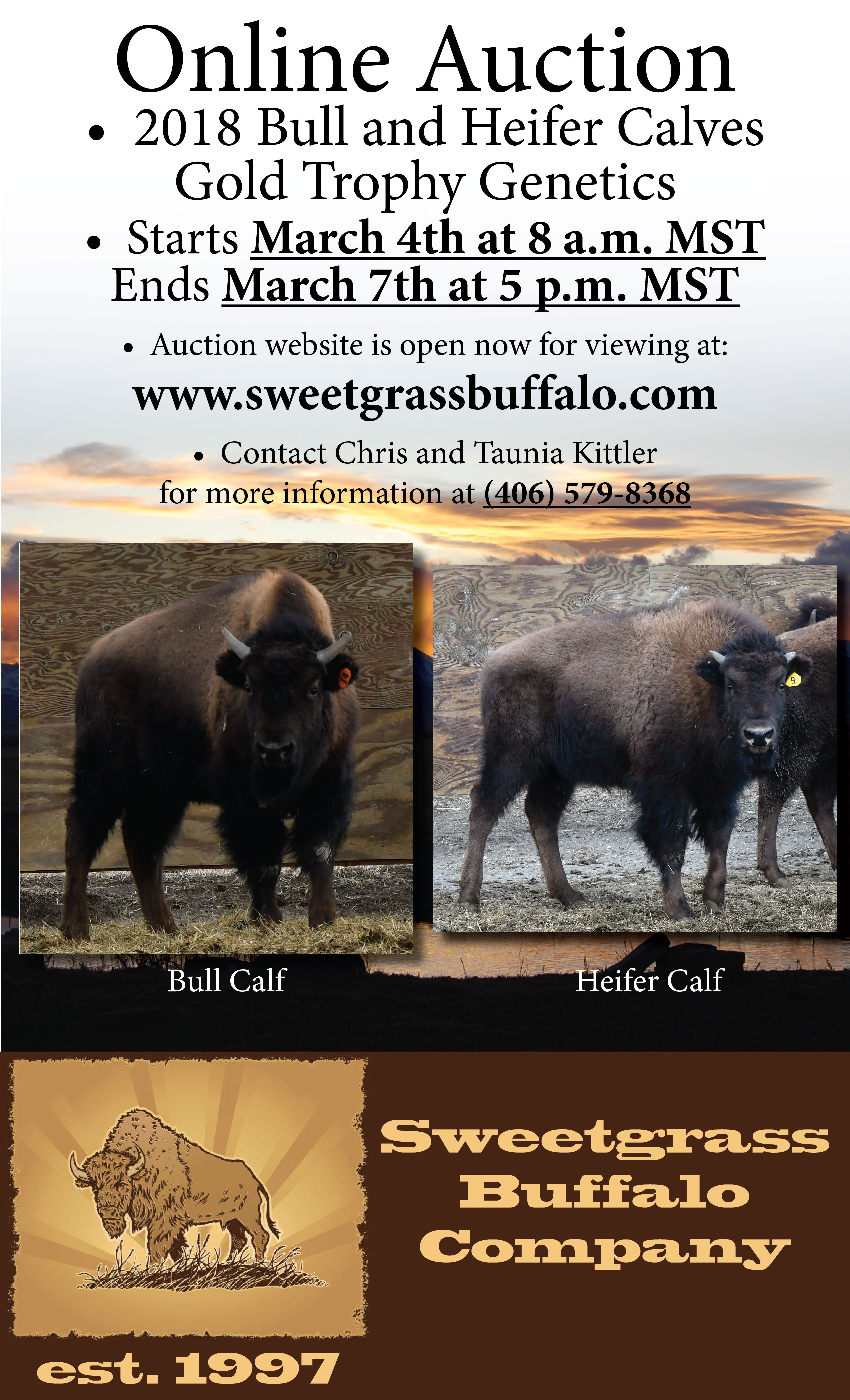 sweetgrass buffalo online auction