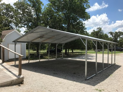 24x26 Boxed Eave Carport with 7' legs