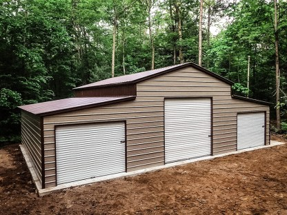 42x30x12x8 Agricultural Barn with Vertical Roof