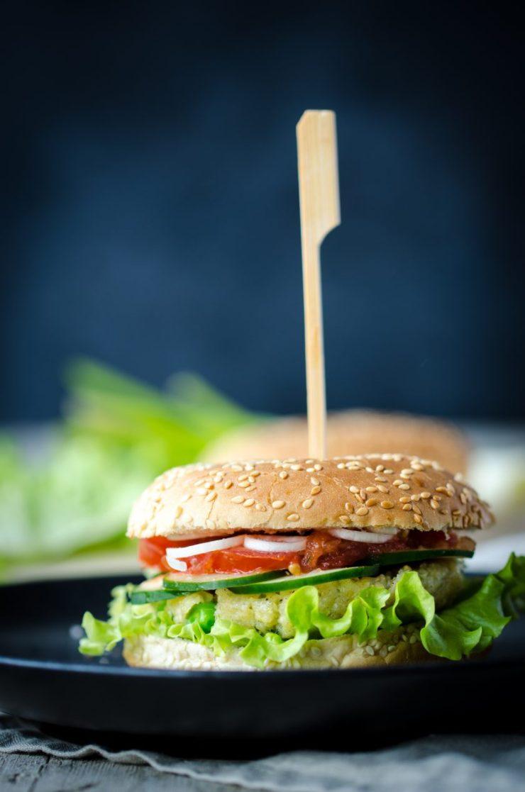 Rezept veganer Hirseburger
