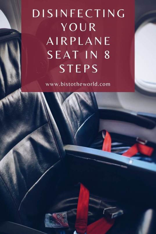 how to disinfect your airplane seat