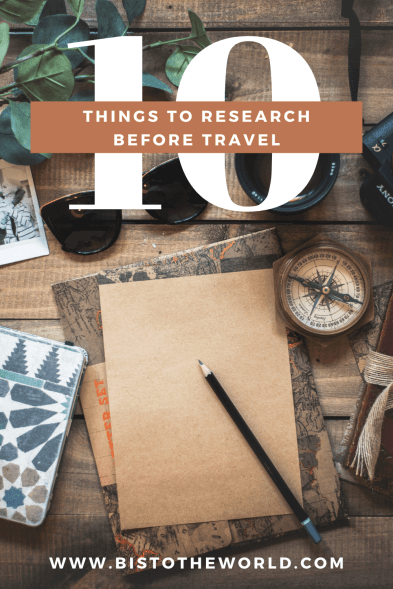 things to research before travel