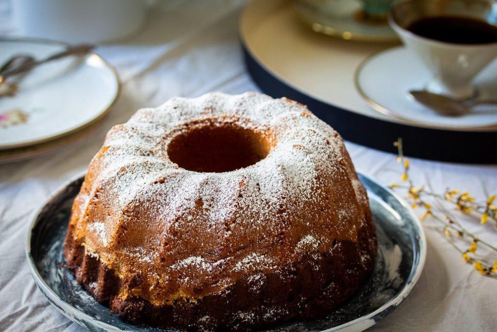 marble cake tahini cardamom