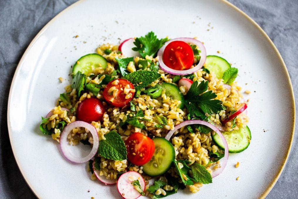 Freekeh-Salat-libanesisch-Rezept
