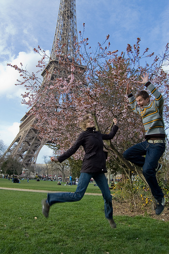 Spring has arrived in France, and so has a positive outlook on life