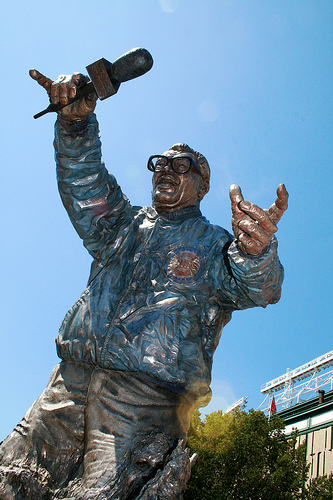 Harry Caray's Statue outside of Wrigley Field in Chicago
