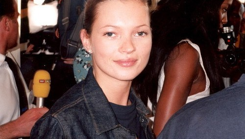 Kate Moss Goes Grey for Paris Fashion Week