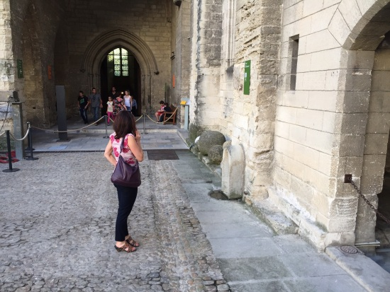 Jennifer in Palace of the Popes