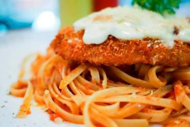 Chicken Parmigiana Fettuccine
