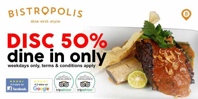 Disc 50% Dine-in December Promotion