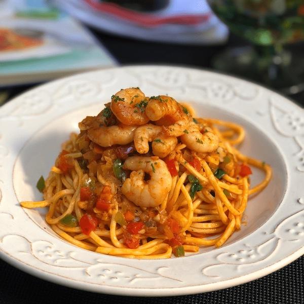 Chili Shrimp Spaghetti