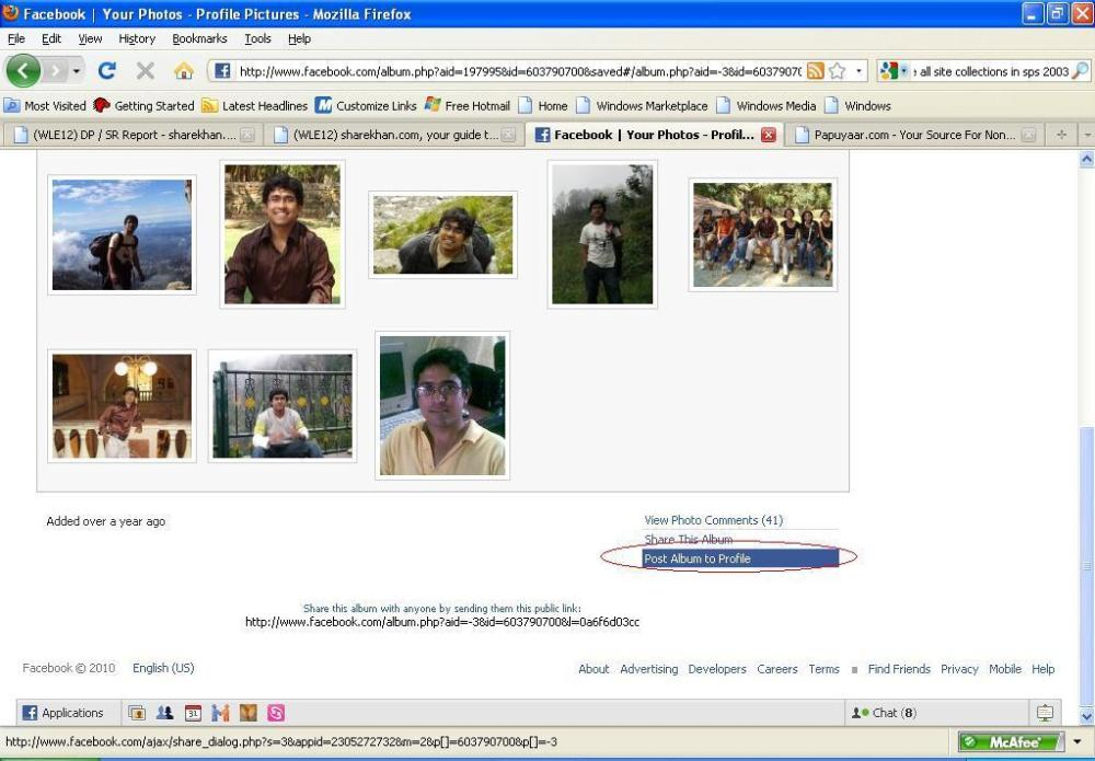How to publish your profile picture on Facebook wall (2/2)