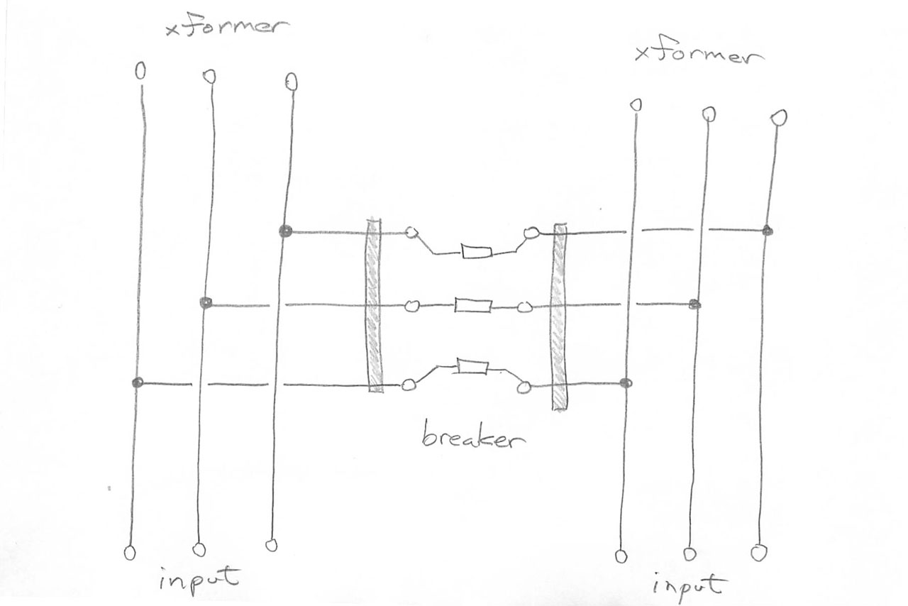 hight resolution of circuit sketch