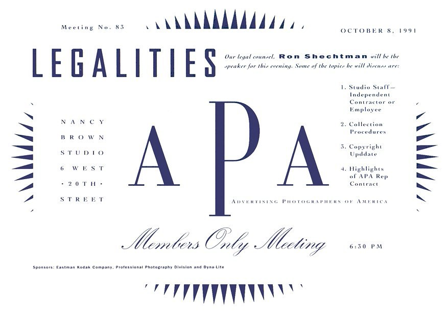 APA Meeting card and ad