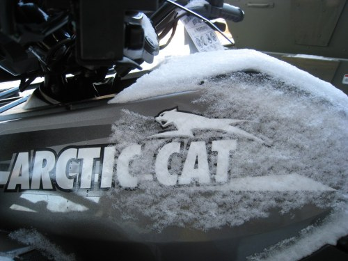 small resolution of arctic cat the logo with snow