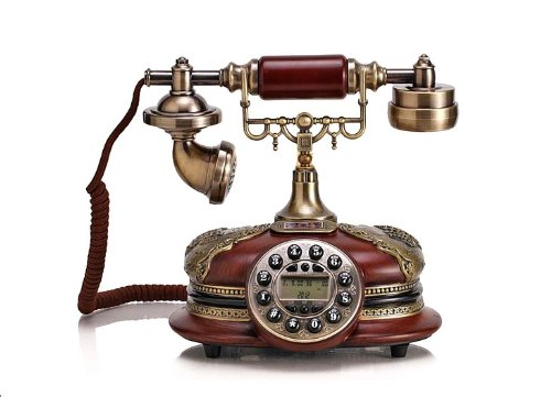 European and American Antique Telephones Solid Wood Resin Retro Phone