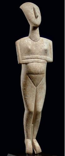 A Magnificent and Highly Important Early Cycladic II Marble Reclining Female Figure, Among the Finest Extant Cycladic Idols, the Name Piece of the Schuster Master