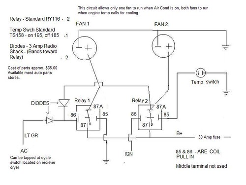 dual electric fan wiring diagram with relay 2000 nissan frontier stereo air conditioner schematic