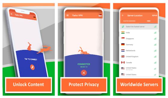 Android users in turbo vpn will still find themselves enjoying more with the premium version of the app with many of its upgraded features. Download Turbo Vpn Mod Apk Latest 3 5 1 1 Vip Unlocked