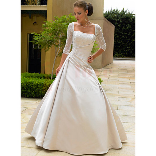 LONG SLEEVE WEDDING DRESS WEDDING DRESS 25TH WEDDING