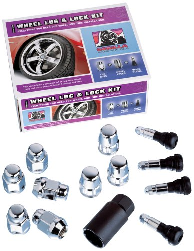 "Gorilla Automotive 76845 Duplex Acorn Wheel Installation Kit (14mm x 1.50"" Thread Size) - For 8 Lug Wheels"