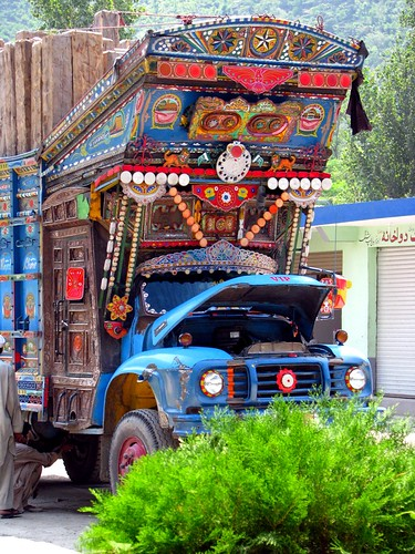 Pakistani Trucks on Karakoram Highway