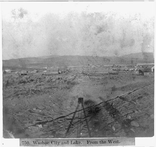 Photo Reprint Washoe City and Lake - From the West 1866
