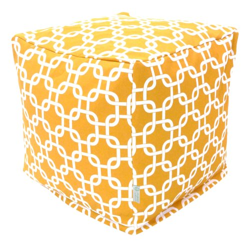 Majestic Home Goods Yellow Links Cube, Small
