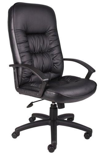 Boss Executive Leather Plus Chair Black