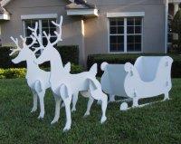 OUTDOOR CHRISTMAS DECORATIONS DEER : OUTDOOR CHRISTMAS