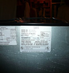 sanyo stainless steel mini household refrigerator with freezer 2 [ 1024 x 768 Pixel ]