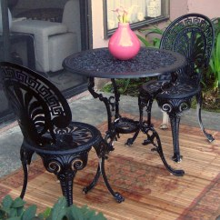 Iron Table And Chairs Set Narnia The Silver Chair Black Wrought Dining 54