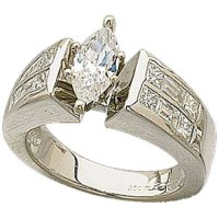 Gold Wedding Rings: Engagement Rings Without Center Stone
