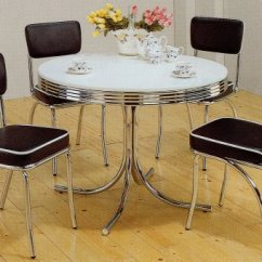 1950s Formica Kitchen Table And Chairs Wooden Sets Retro : - 36 Inch Round ...
